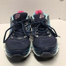 Fila Women's Running Tennis Sneakers Shoes Size 8 Navy and Pink - $21.78