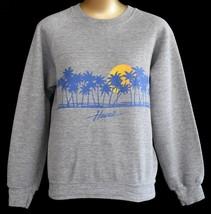 Vintage 80s Hawaii Sweatshirt Hawaiin Islands Tri-Blend Raglan Small to ... - $49.99