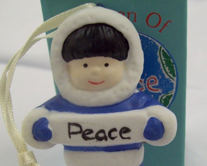 Children Of The World PEACE Ornament Arctic Decorative Figurine by Papel