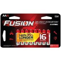 Rayovac 815-16LTFUSJ Fusion Long-Lasting Alkaline Batteries (Aa, 16 Pk) - $30.10