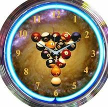 Spaceballs Billiard 15 Inch Neon Wall Clock Bar Office Game Room Man Cave - $63.35