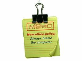 Memo New Office Policy: Always Blame the Computer Paper Clip Christmas O... - $14.99