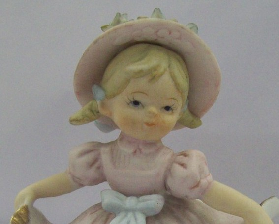 Little Young Girl Collectible Porcelain Figurine by Lipper & Mann Creation Japan