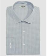 Kenneth Cole Blue Multi Check Slim-Fit Flex Collar Stretch Dress Shirt - $21.95