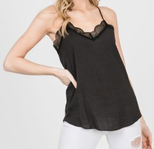 Black Lace Camisole Top, Lace Trim Camisole, Camisole Tops, Colbert Clothing