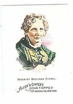 Harriet Beecher Stowe trading card 2008 Topps Allen and Ginters #313 - $3.00