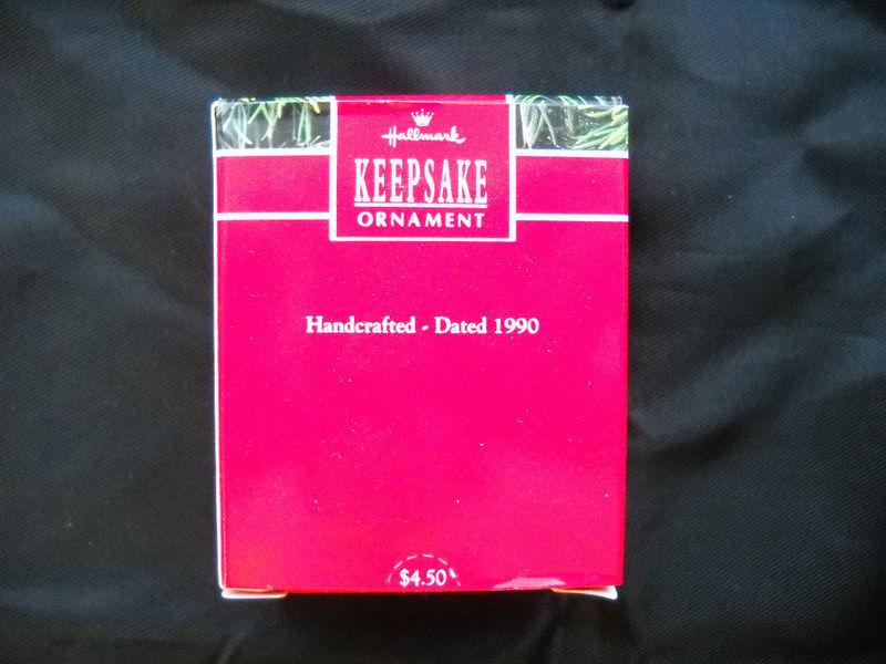 STAMP COLLECTOR HALLMARK ORNAMENT MINIATURE - 1990