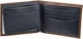 Tommy Hilfiger Men's Leather Bifold RFID Blocking Wallet With Zipper Coin Pocket image 3