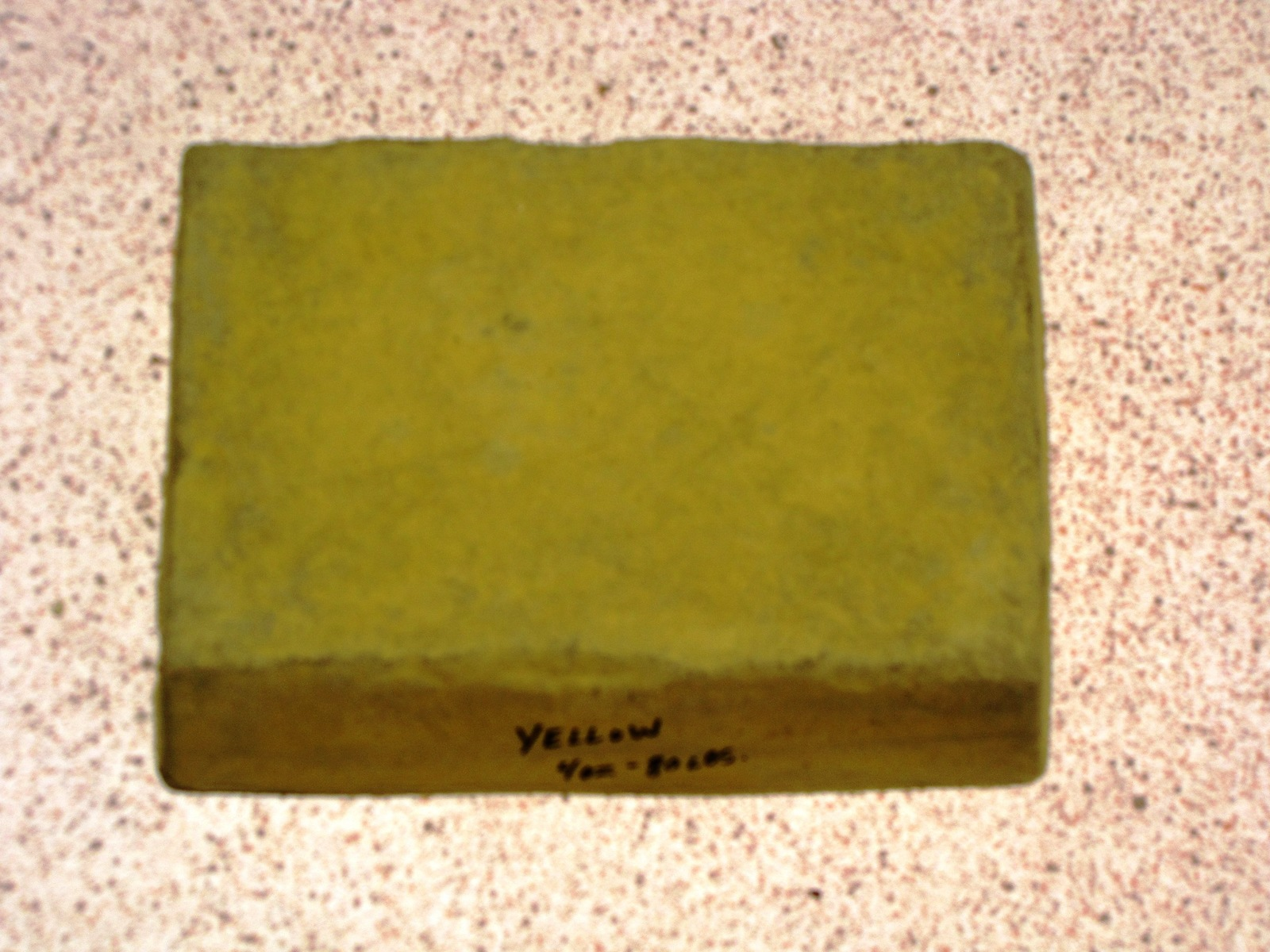 1 LB. YELLOW POWDER TO COLOR CONCRETE, CEMENT, PLASTER, GROUT OR BRICK VENEER