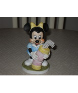 Vintage Disney Minnie Mouse Golf Bag Golfing Porcelain Figurine - $24.99