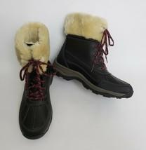 Clarks Collection Womens Boots Shoes Faux Fur Lace Up Black Size US 11M ... - $79.15