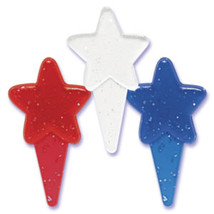 Transparent Rwb Glitter Star Picks - $5.25