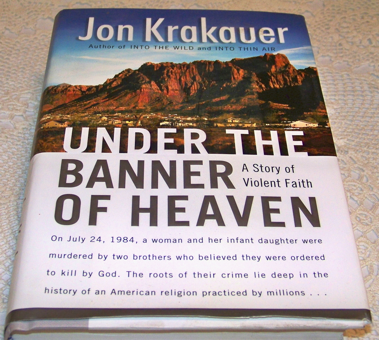Under The Banner of Heaven A Story of Violent Faith Krakauer