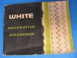 WHITE Decorative ZIGZAGGER Manual - $14.95
