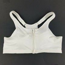 Womens White Wireless Criss Cross Comfort Sports Bra Size 44 DDD  - $29.35