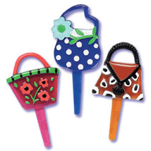 Purse Jewel Puffy Picks  - 3 Styles - $5.25