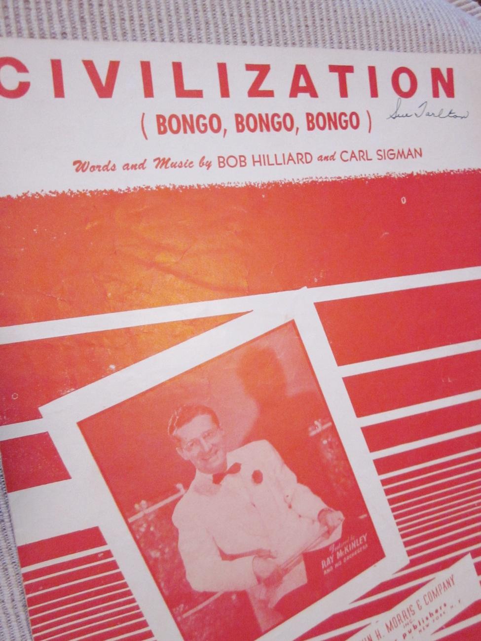 Vintage Sheet Music Civilization by Hilliard & Sigman - Ray McKinley