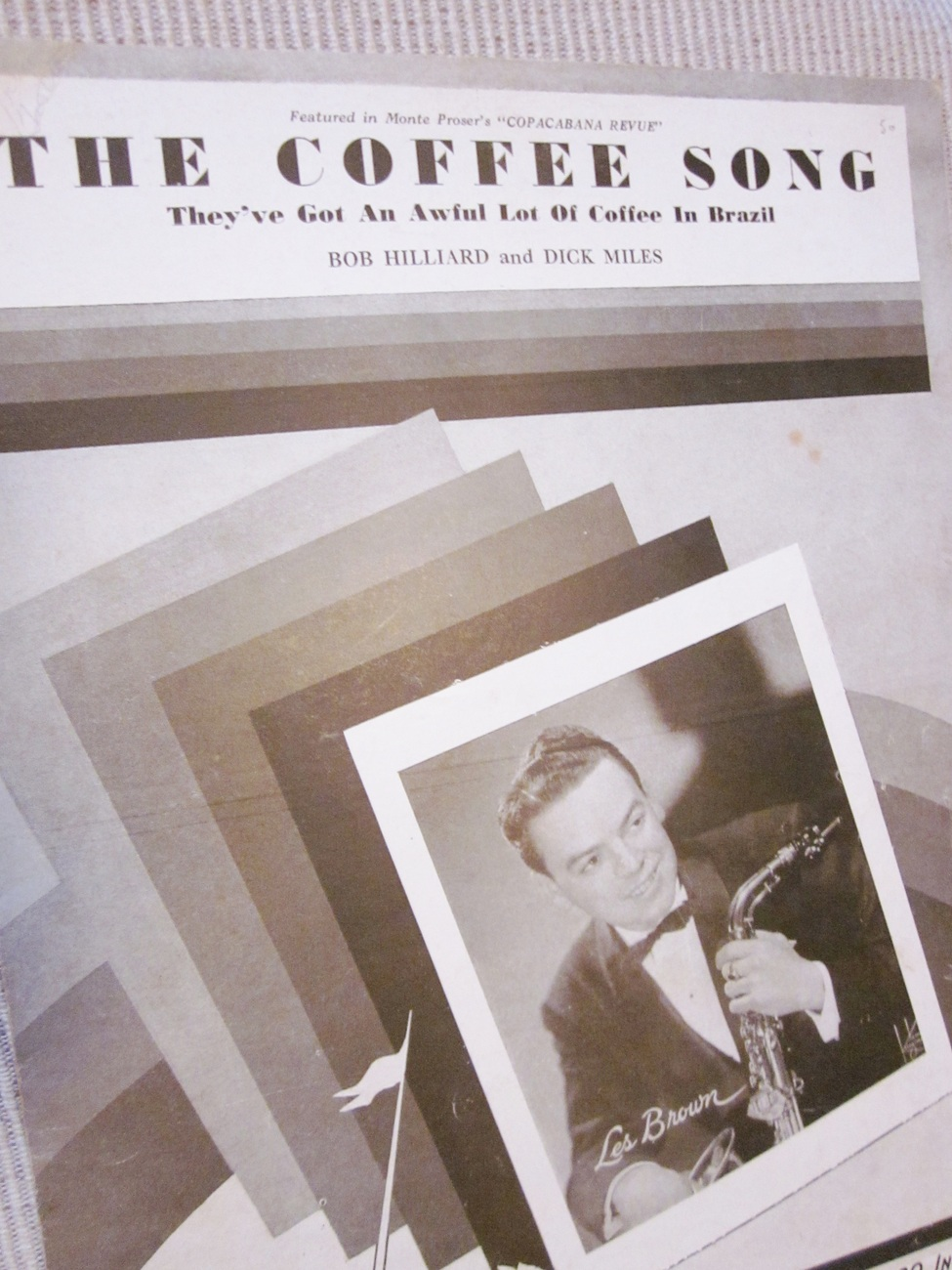 Vintage Sheet Music The Coffee Song by Hilliard and Miles - Les Brown 1946