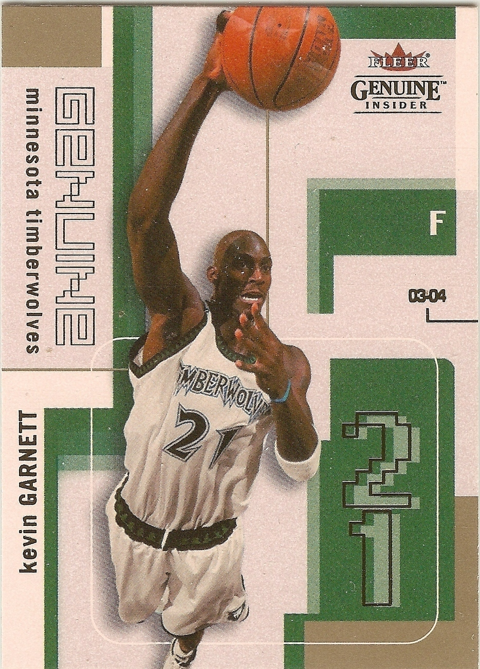 Kevin Garnett Fleer 03-04 #85 Minnesota Timberwolves Boston Celtics Brooklyn Net
