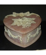 Trinket Box Incolay Stone Heart Handcrafted USA... - $40.00