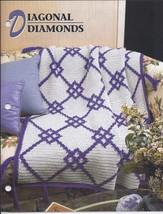 Diagonal Diamonds Afghan Crochet Pattern~Annie's Quilt & Afghan Club - $19.99