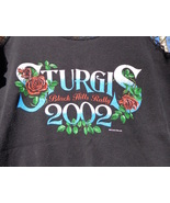 Sturgis ND 2002 Black Hills Rally Tee shirt tan... - $10.00