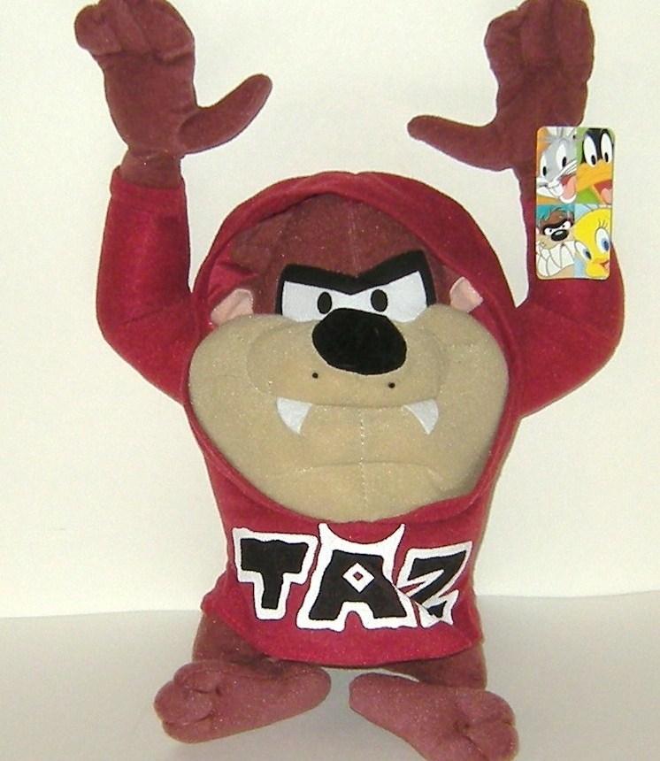 1/2 Price! Looney Tunes Taz Tazmanian Devil Plush Hoodie Nanco