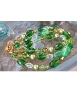 Shades of summer Green bracelet Made from vintage findings  - $45.80