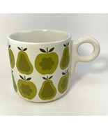 Orla Kiely x Target Green Pears & Apples Mug Cup Retro Graphic 14 oz  - $19.59