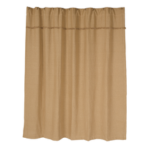 BURLAP NATURAL Shower Curtain - Unlined - 72x72 - Farmhouse Style - VHC Brands