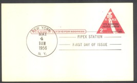 FIPEX postal card First Day of Issue New York, NY May 4, 1956 - $1.99