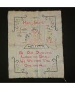 Vintage Sampler Handcrafted Embroidery Cross St... - $5.00