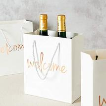 Crisky Welcome Bags Rose Gold Gift Bags for Wedding Hotel Guests, Birthday, Baby image 3