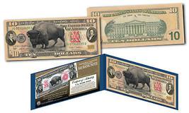 1901 Bison Buffalo / Lewis & Clark $10 Banknote on Genuine Modern $10 U.... - $28.01
