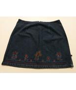ROUTE 66 Womens Jean Skirt Size 20W (38 Waist 21 long) Blue Denim & Flor... - $19.10