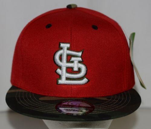 Green Cabbage Premium Headwear St Louis Cardinals Camo Snapback Cap