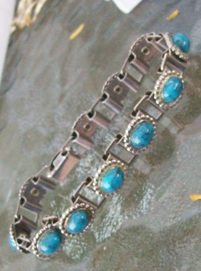 1920s costume turquoise bracelet  collected only