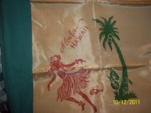 Primary image for Vintage Aloha Hawaii Womans Ladies Scarf Souvenir Textile ~ Satin ?