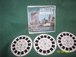 Vintage United Nations Viewmaster Full Set of 3 Reels with Cover - $15.00