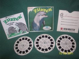 Vintage Viewmaster Flipper TV Full Set of 3 Reels with Cover & Booklet - $9.95