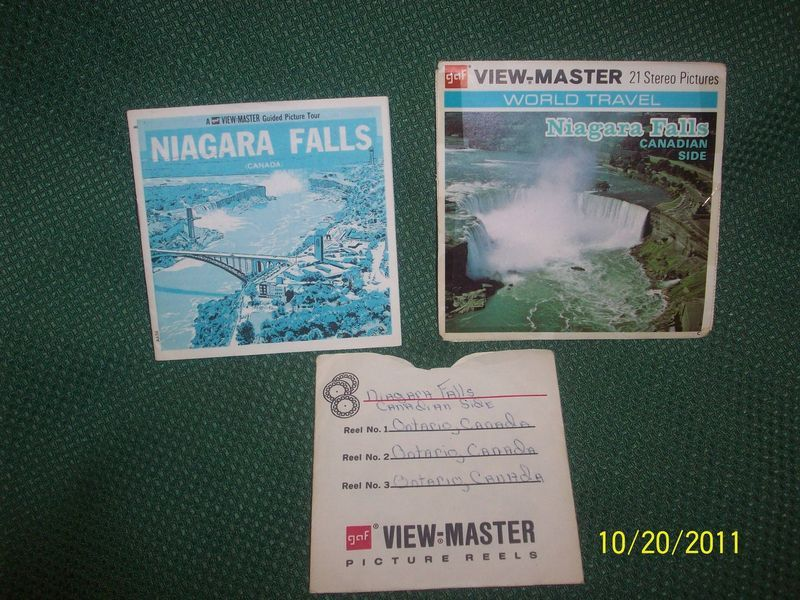 Vintage Viewmaster Niagra Falls Canadian Side Set of 3 Reels w/ Cover & Booklet