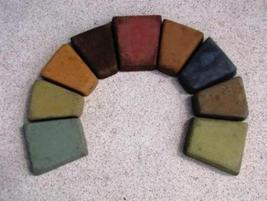 Rainbow of colors made with 4 oz color per 80 lb concrete thumb200