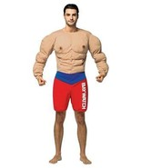 Baywatch Lifeguard Costume Muscles Adult Funny Halloween Party Unique GC... - $62.99