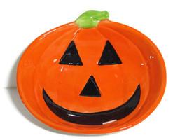 Halloween Candy Dish Pumpkin Ceramic Dishwash M... - $12.86