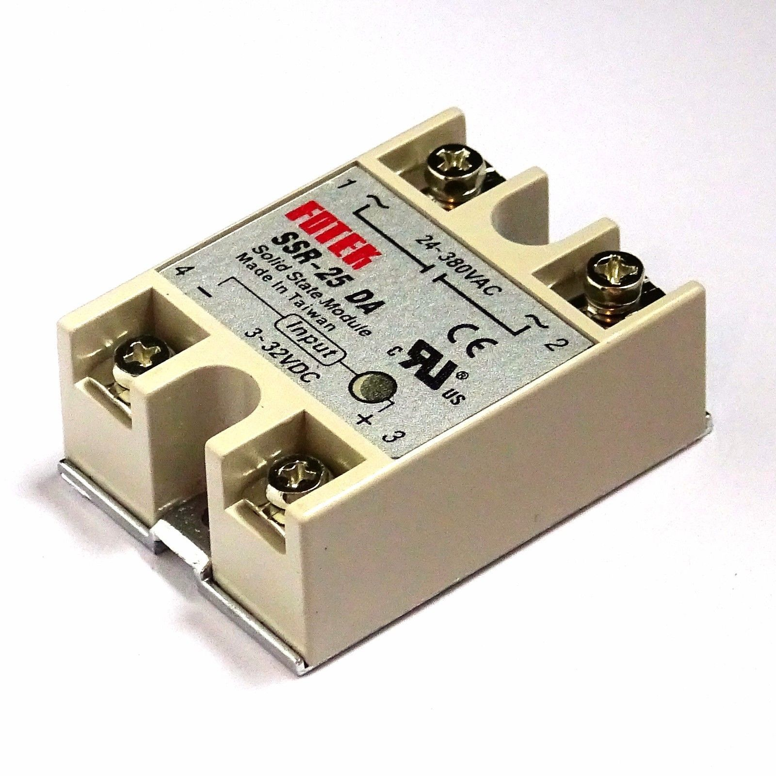 Solid State Relay Module Ssr 25da 25a 250v And 50 Similar Items Celduc 3 32v Dc Input 24 380vac Out Uk