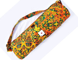 Yoga Mat Bag Yellow Star Bohemian Bag Beach Bag Hippie Mandala Gym Mat C... - $26.99