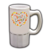 Personalized Custom Photo Father's Day Beer Mug Gift #1 - $19.99