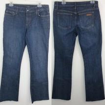 Joe's Jeans Women's Honey Bootcut Susan Dark Wash Raw Hem Size 29 Inseam... - $39.59