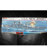 1976 Monogram Model Kit 45,000 Ton Battleship BB-62 U.S.S NJ - $19.99