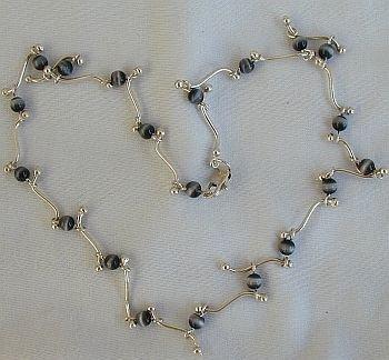 beautiful black cat eye necklace